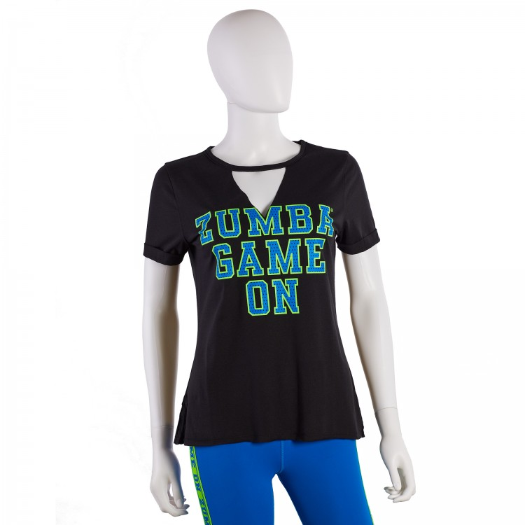 Zumba Game On V-Cut Out Top