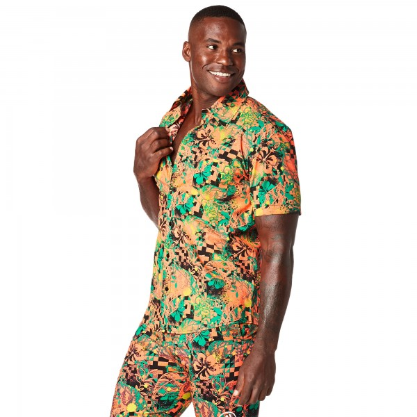 Get Tropical Short Sleeve Button Up