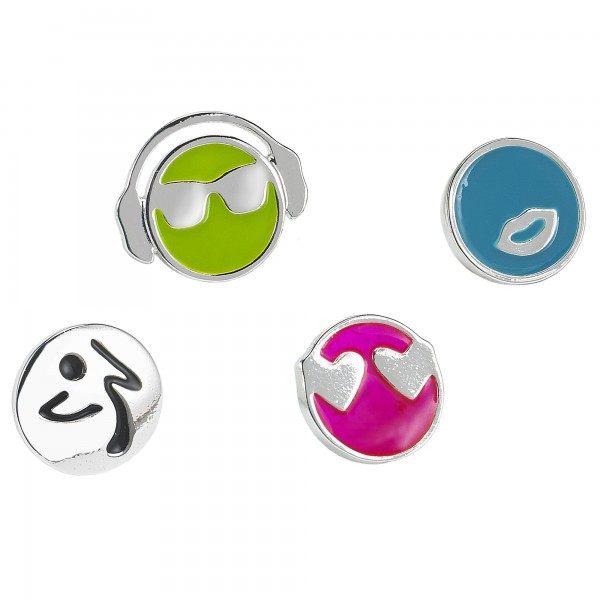Zmoji Stud Earrings 4pk