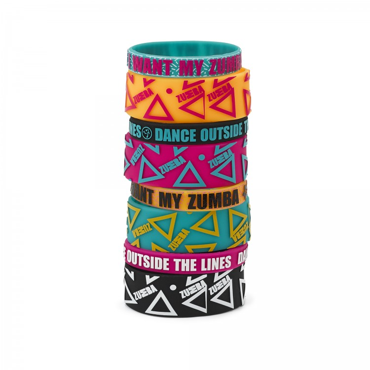 Dance Outside Rubber Bracelets 8 PK