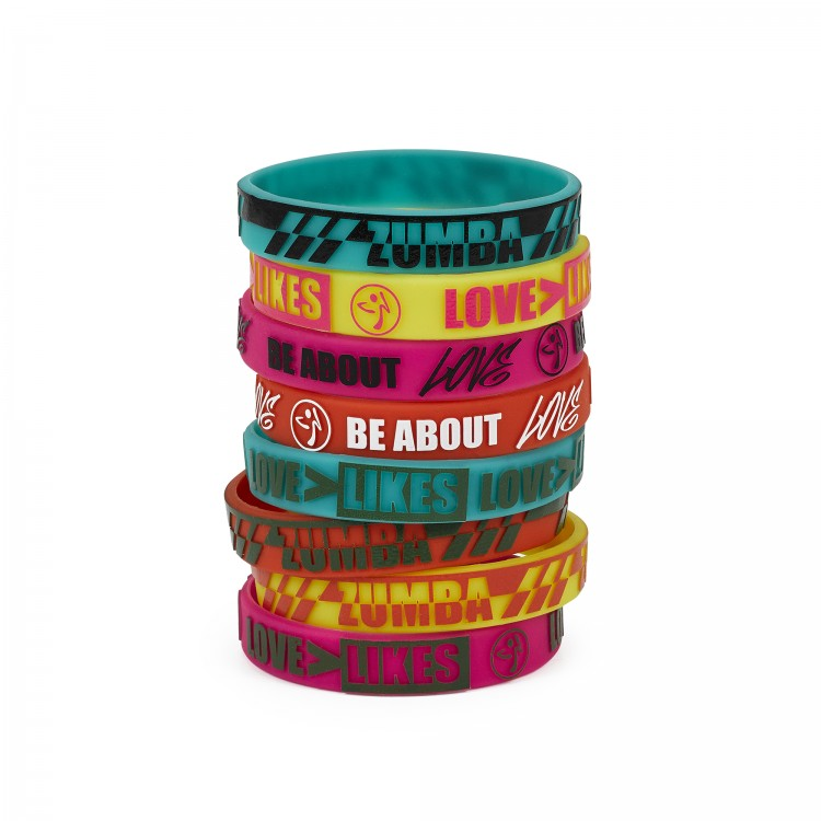Be About Love Rubber Bracelets 8PK