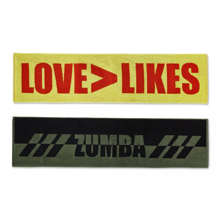 Zumba Love Over Likes Fitness Towels 2PK