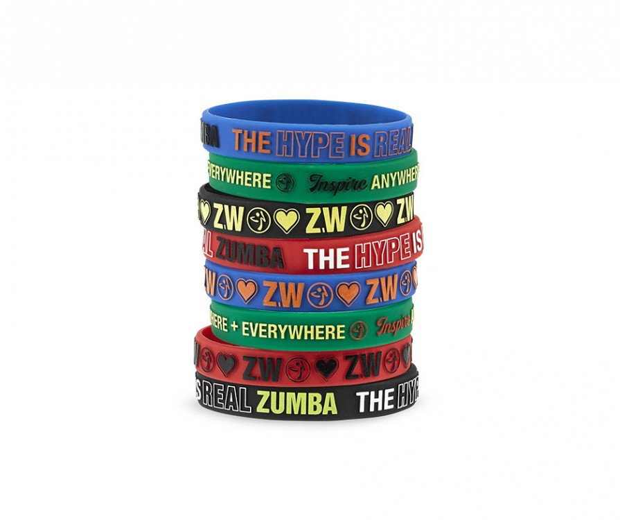 Zumba Everywhere Rubber Bracelets 8 PK