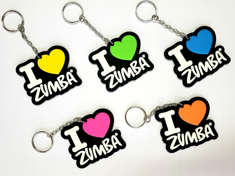 I Love Zumba Key Chain 5pk
