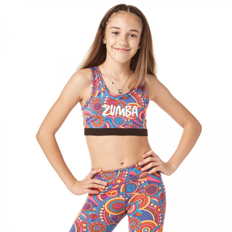 Zumba Peace Scoop Bra