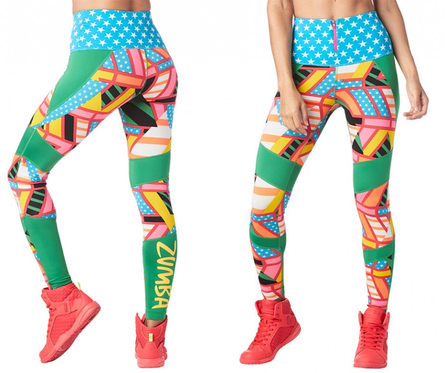 Zumba Victory High Waisted Ankle Leggings