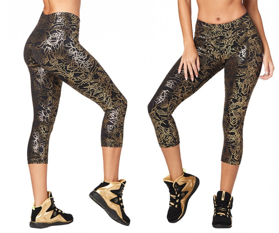 Zumba Love Metallic Capri Leggings