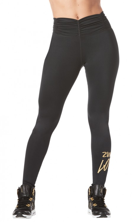 Zumba Love Ruched High Waisted Leggings