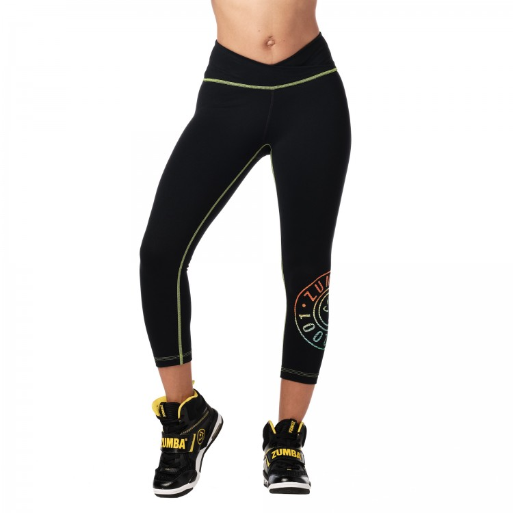 Zumba Original V High Waisted Crop Leggings