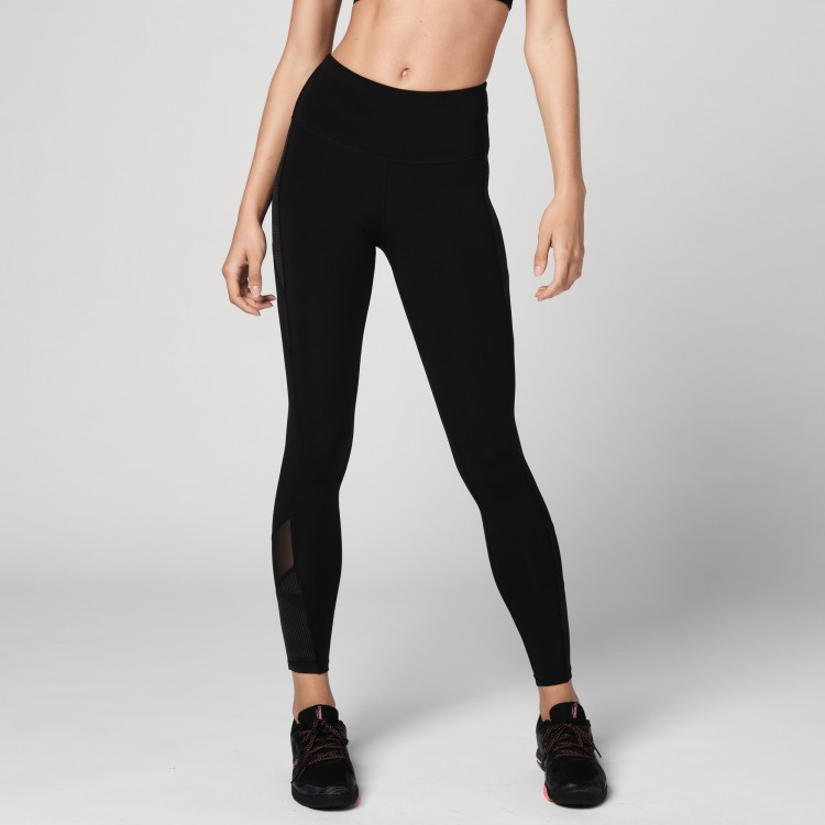 Reflective High Waisted Mesh Leggings