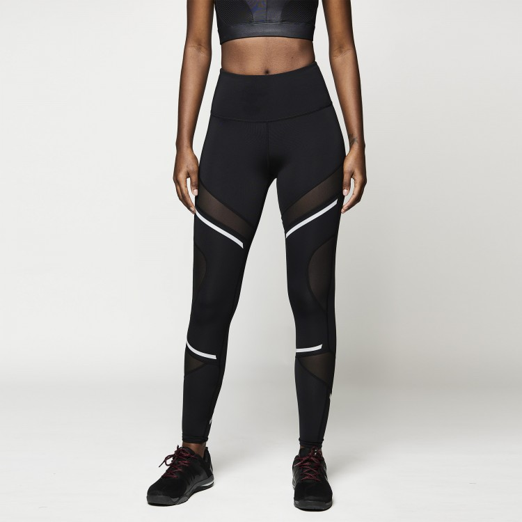 Reflective Accent Ankle Leggings