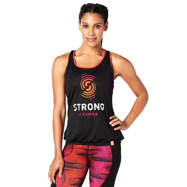 STRONG By Zumba Mesh Bubble Tank