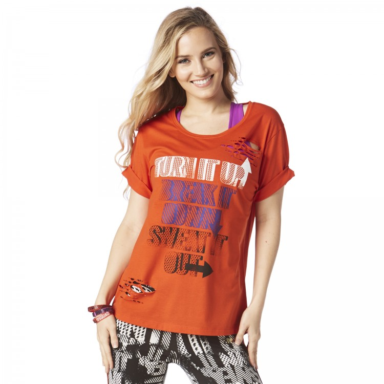 Dance It Out Ripped Long Tee