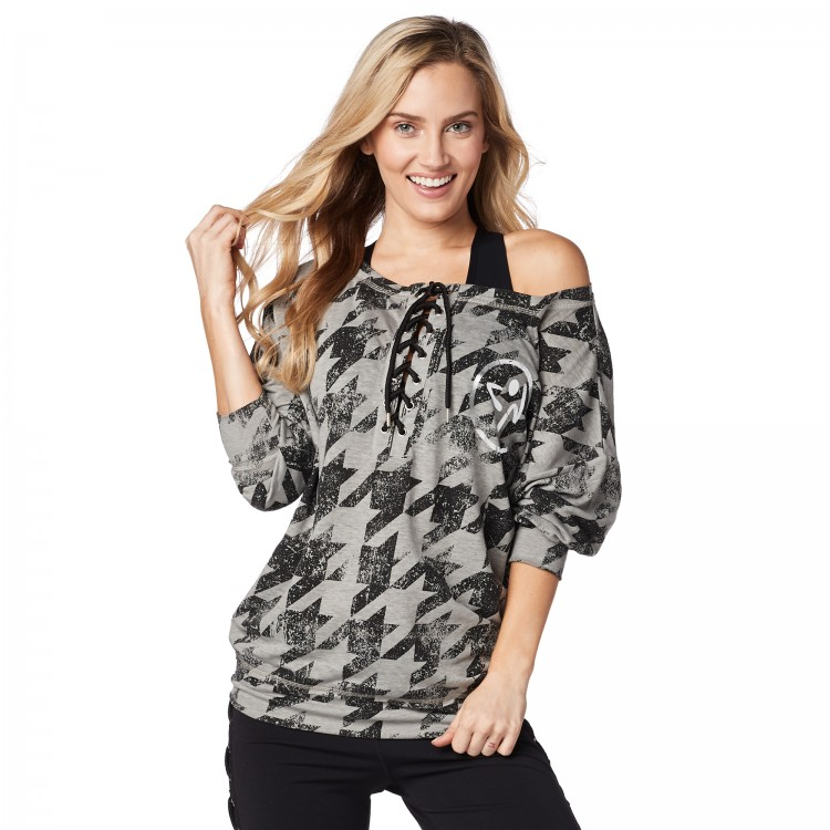 Rockin Zumba Lace Up Pullover