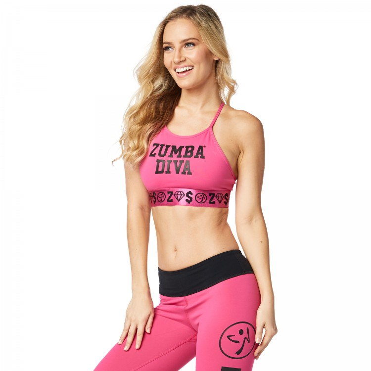 Zumba Diva High Neck Bra