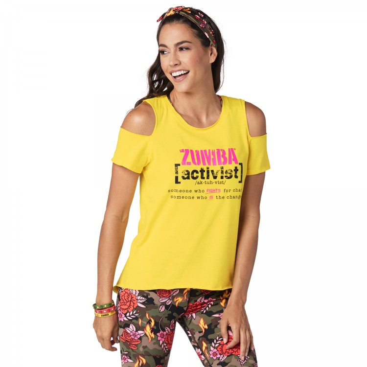 Zumba Activist Cold Shoulder Top