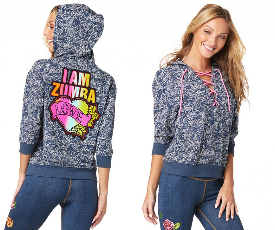 Zumba Love Lace Up Sweatshirt