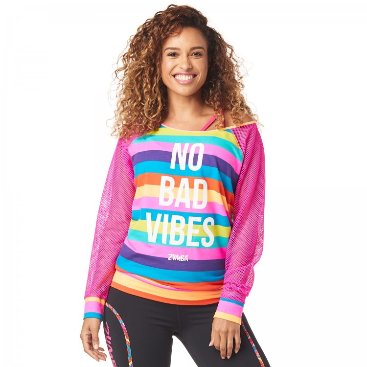 No Bad Vibes Zumba Pullover