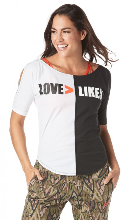 Love Over Likes Cold Shoulder Top