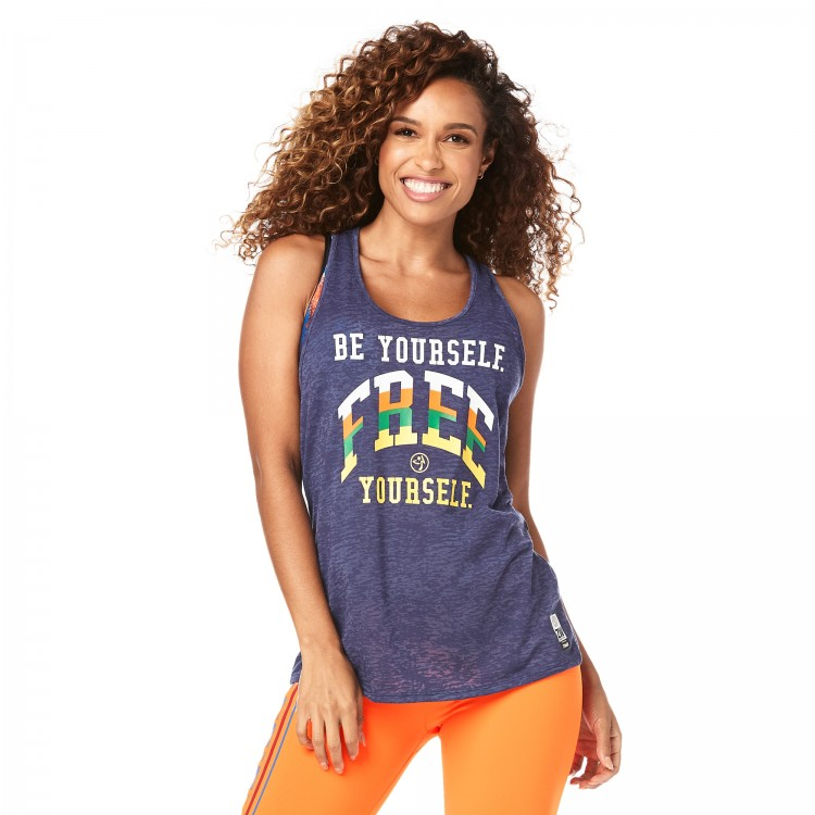 Zumba Be Yourself Twisted Back Tank