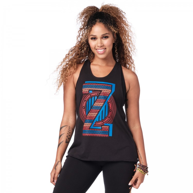 Zumba Dance Tribe Tied Back Tank
