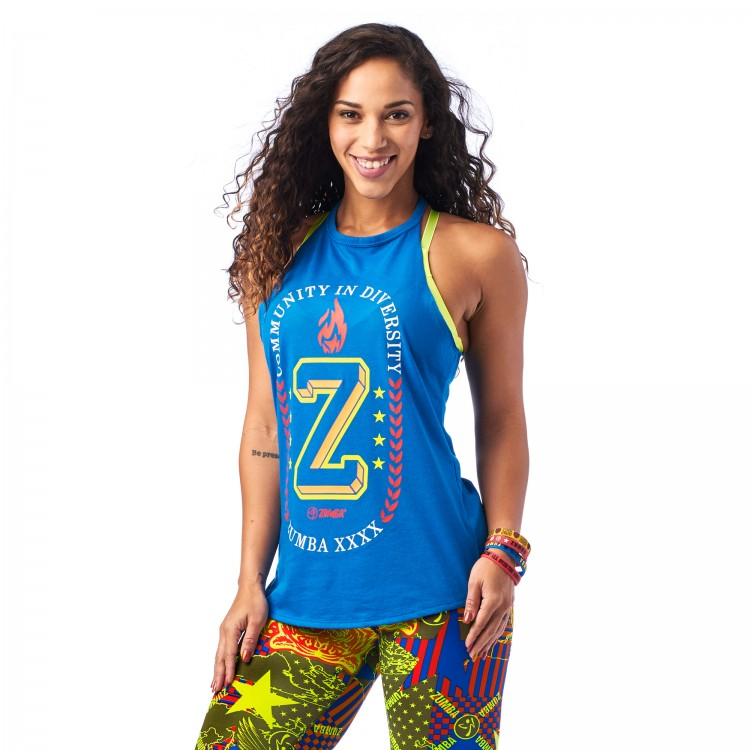 Zumba Community High Neck Tank