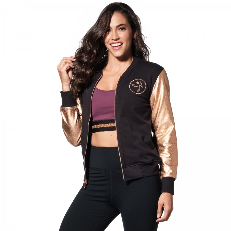 Zumba Bomber Jacket With Swarovski Crystals