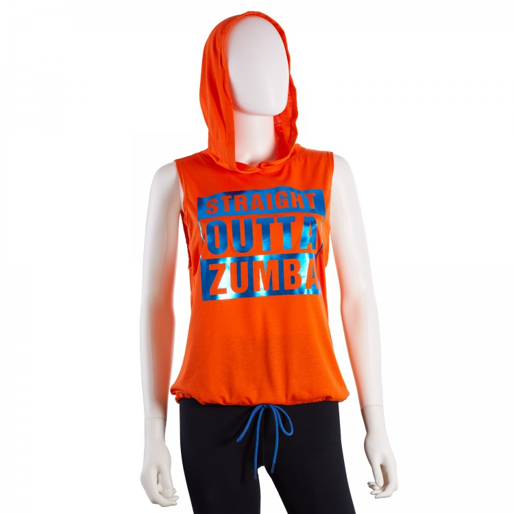 Straight Outta Zumba Sleeveless Hoodie