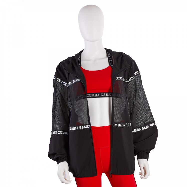 Zumba Game On Mesh Insert Jacket