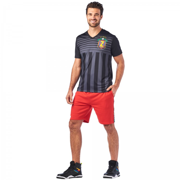 Zumba Dance League Mens V Neck Tee