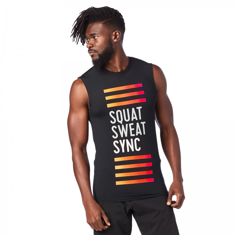 Squat Sweat Sync Muscle Tank